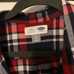 Old Navy Tops - Flannel button up // XL
